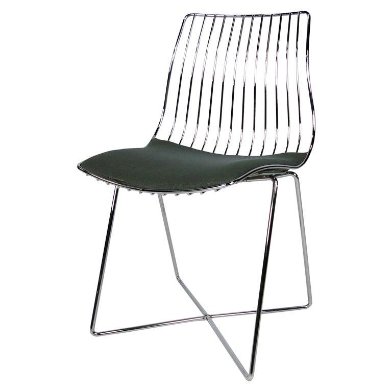 Italian Chrome Wire Desk Chair