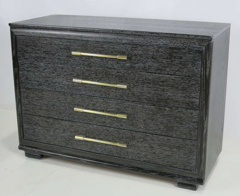 Cerused Oak Bachelors Chest by Raymond Loewy for Mengel In Excellent Condition For Sale In San Leandro, CA