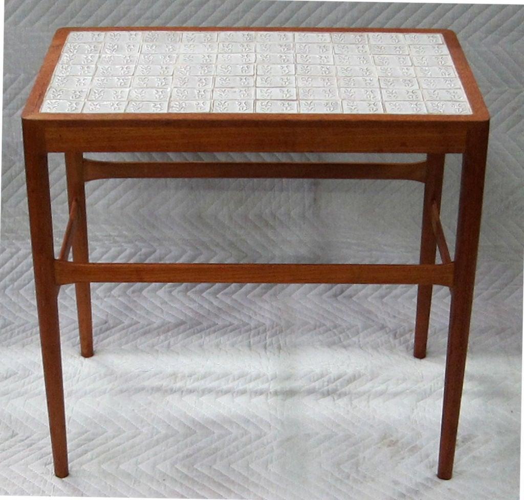Tile Top Side Table By Helge Vestergaard Jensen For Soren Horn 3