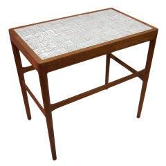 Tile Top Side Table by Helge Vestergaard-Jensen for Soren Horn