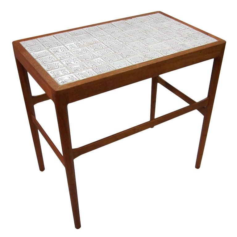 Tile Top Side Table By Helge Vestergaard Jensen For Soren Horn 1