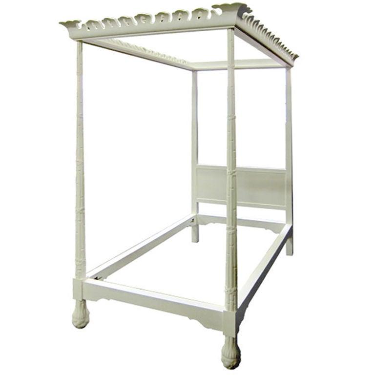 regency style tester bed by frances elkins for sale at 1stdibs. Black Bedroom Furniture Sets. Home Design Ideas