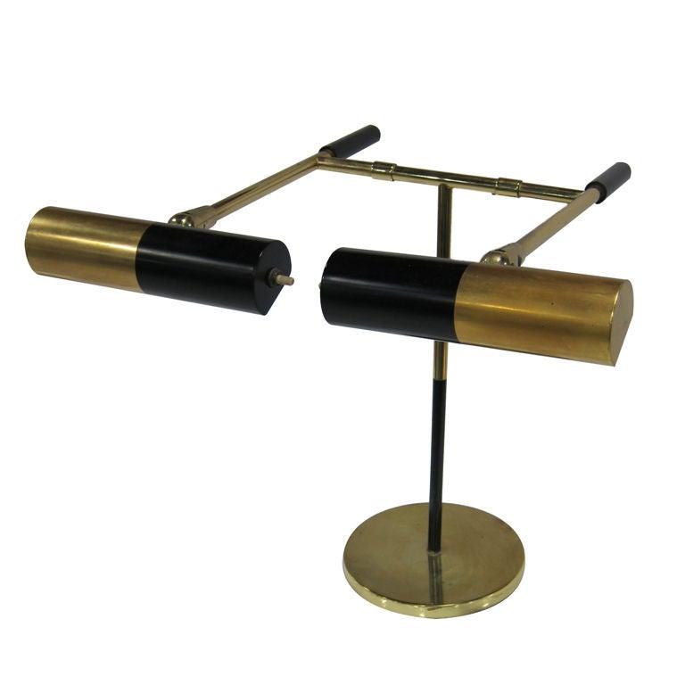 Fully articulating two arm brass desk lamp for Table lamp with 2 arms