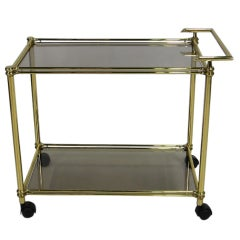 80's Italian Brass Bar Cart