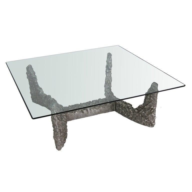 Brutalist Cast Aluminum Coffee Table At 1stdibs