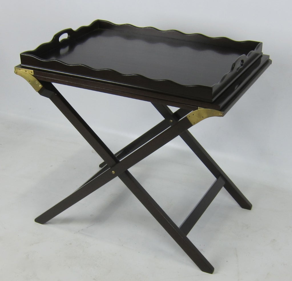 fold out tray table server by baker for sale at 1stdibs. Black Bedroom Furniture Sets. Home Design Ideas
