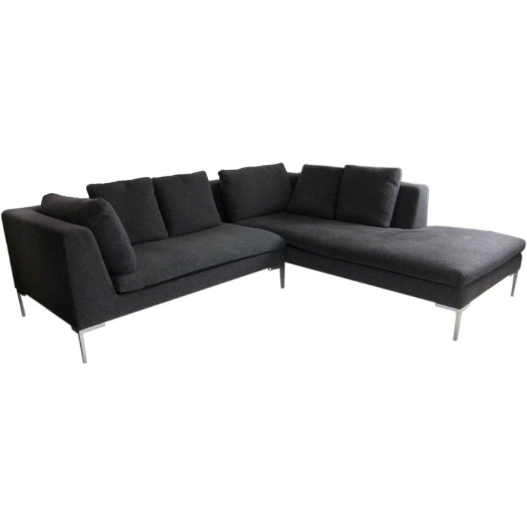 iconic b b italia charles sectional by antonio citterio at 1stdibs. Black Bedroom Furniture Sets. Home Design Ideas