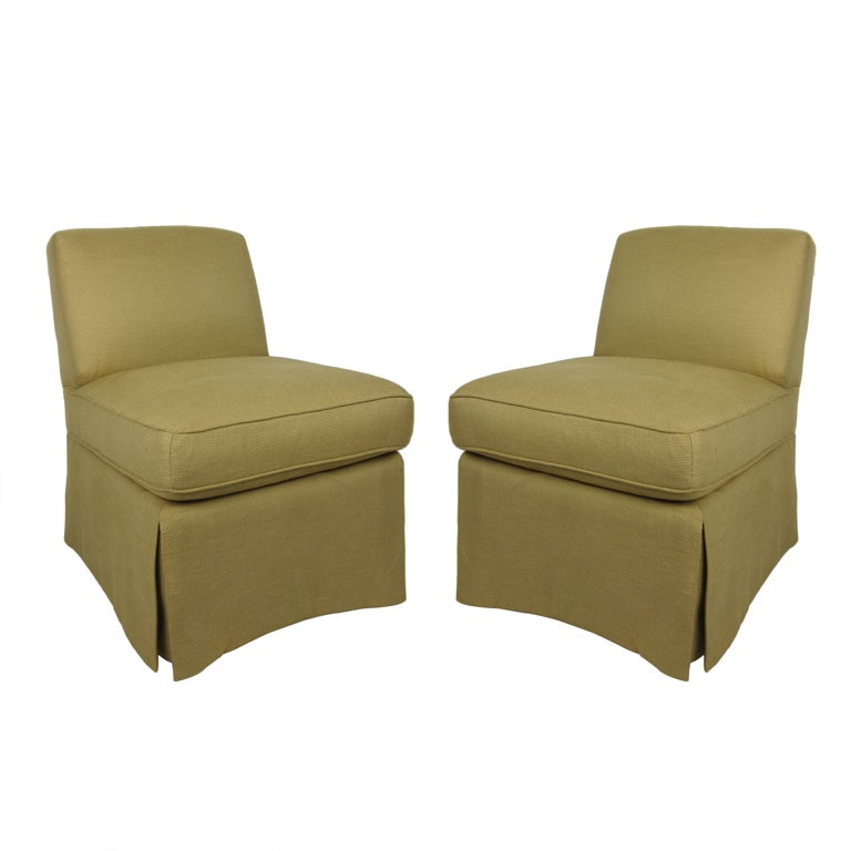 Pair Of Billy Baldwin Slipper Chairs For Sale