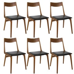 Set Of Six Boomerang Chairs By Erik Christensen