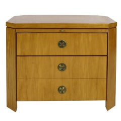Bedside Chest with Pullout Shelf By Charles Pfister For Baker