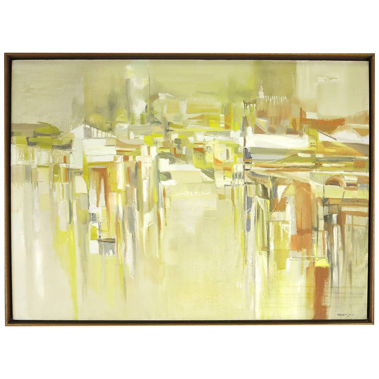Abstract Cityscape Painting by Margaret Smith