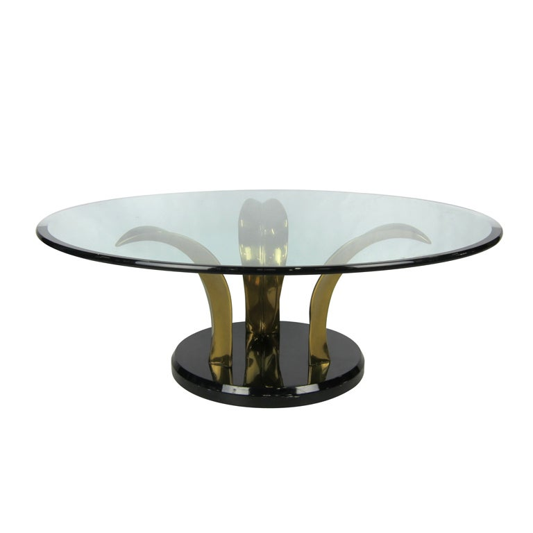 Bronze Palm Leaf Coffee Table For Sale At 1stdibs