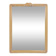 "Italian Carved ""Rope"" Framed Mirror"