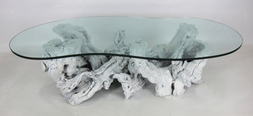 Large Freeform Driftwood Coffee Table 3