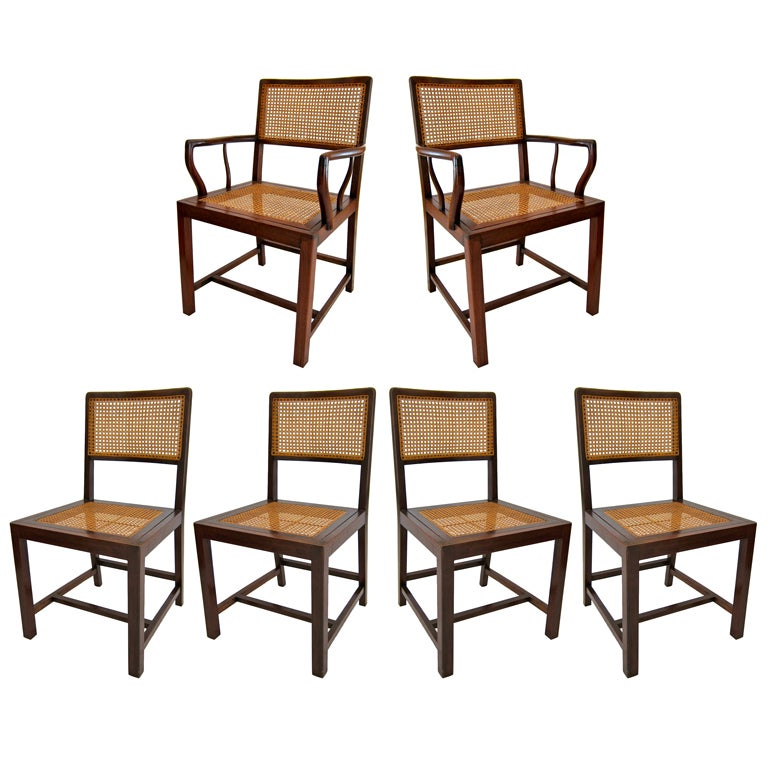 Set of six modern rosewood dining chairs for sale at 1stdibs - Rosewood dining room furniture ...
