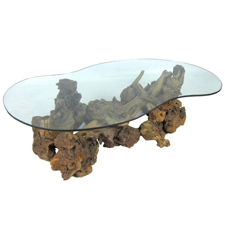 Large Freeform Driftwood Coffee Table At 1stdibs