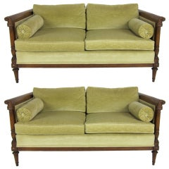 Pair of Directoire Style Loveseats