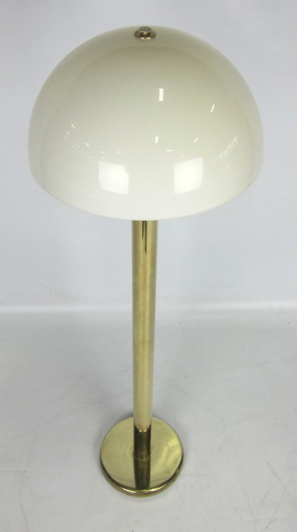 Mushroom Floor Lamp by Nessen Lighting In Excellent Condition For Sale In San Leandro, CA