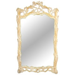 Italian Carved Wood Faux Bois Mirror