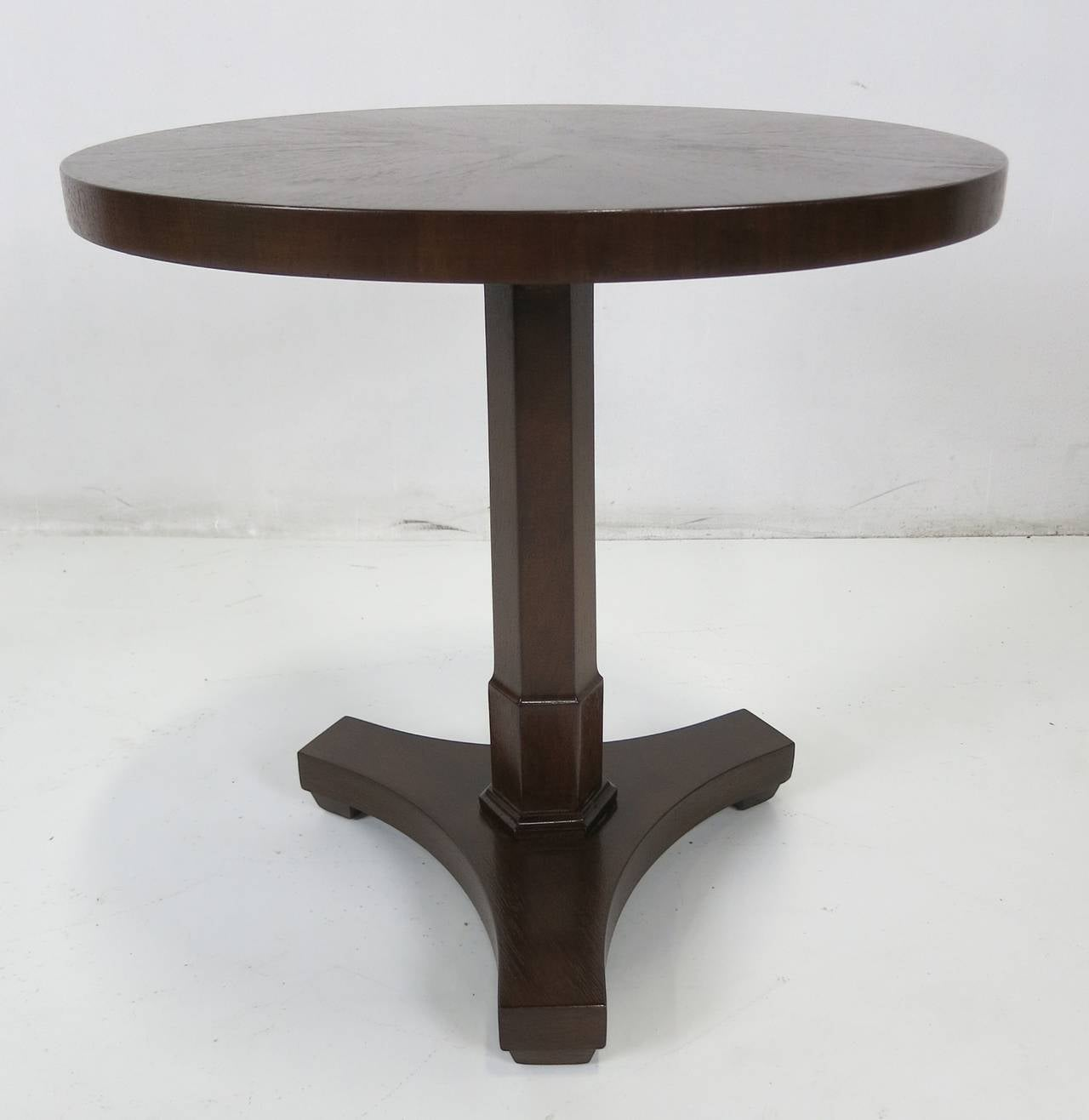 Walnut gueridon side table with sunburst veneer top at 1stdibs for Table gueridon