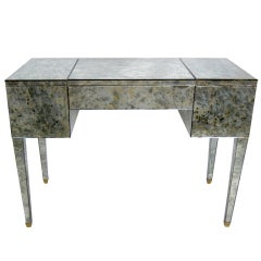 Antiqued Mirror Clad French Vanity