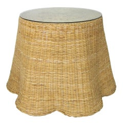 "Large Wicker ""Draped"" Center Table"