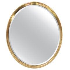 Deep Gilt Framed Oval Wall Mirror