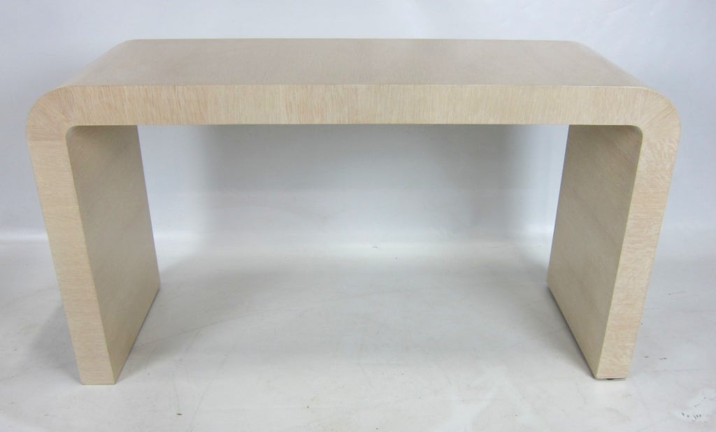 Pickled Oak Waterfall Console by Wm. Dailey 2