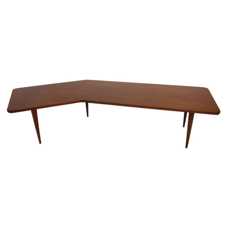 Coffee Table Angled Legs: Angled Top Coffee Table For Sale At 1stdibs