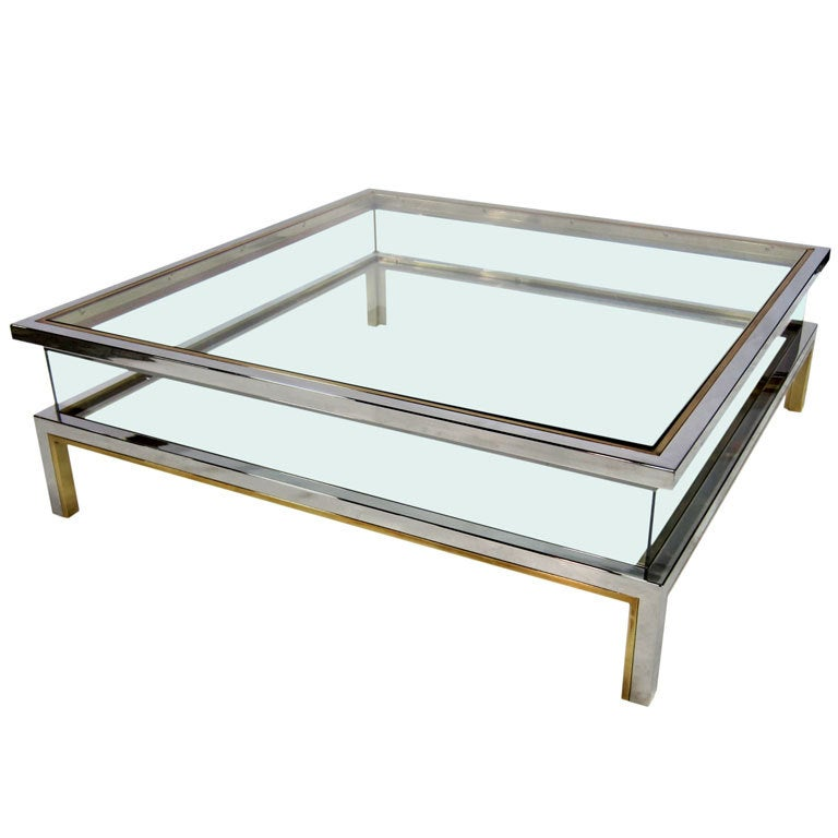 Brass Display Coffee Table