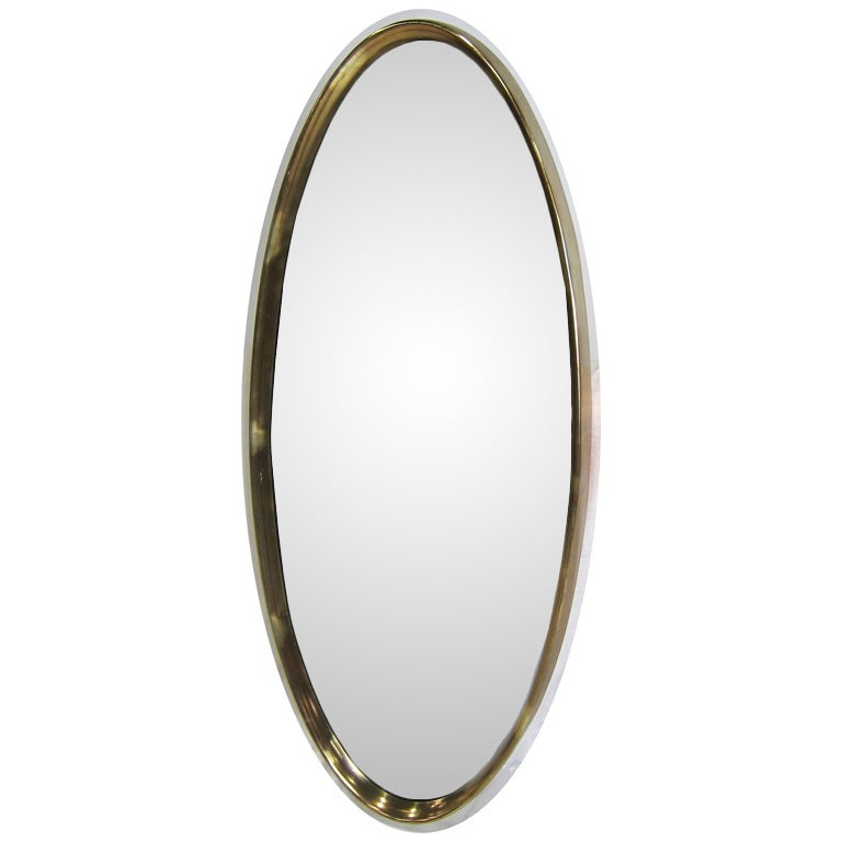 Large gilt oval mirror for sale at 1stdibs for Big mirrors for sale