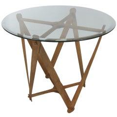 Antique Yarn Spool Side Table