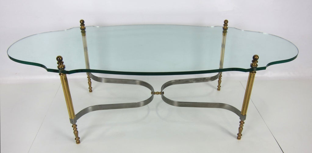 Brass and Steel Coffee Table by LaBarge 2