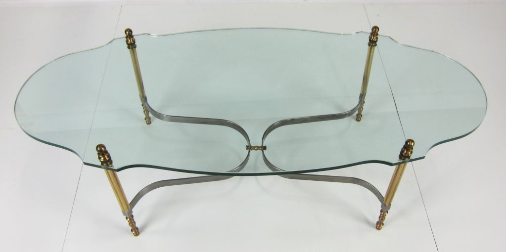 Brass and Steel Coffee Table by LaBarge 3