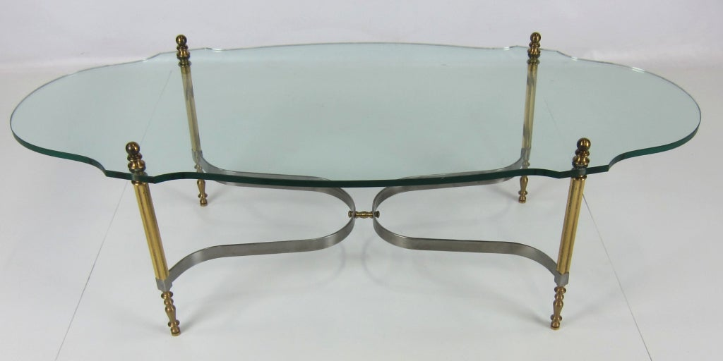 Brass and Steel Coffee Table by LaBarge 4