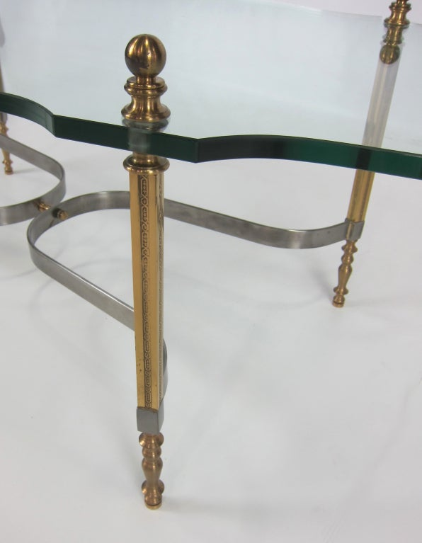 Brass and Steel Coffee Table by LaBarge 5