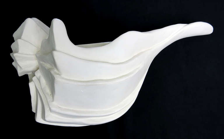 Six Large Plaster Conch Shell Sconces By Michael Taylor At