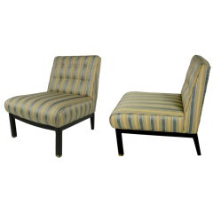 Pair of Baker Slipper Chairs
