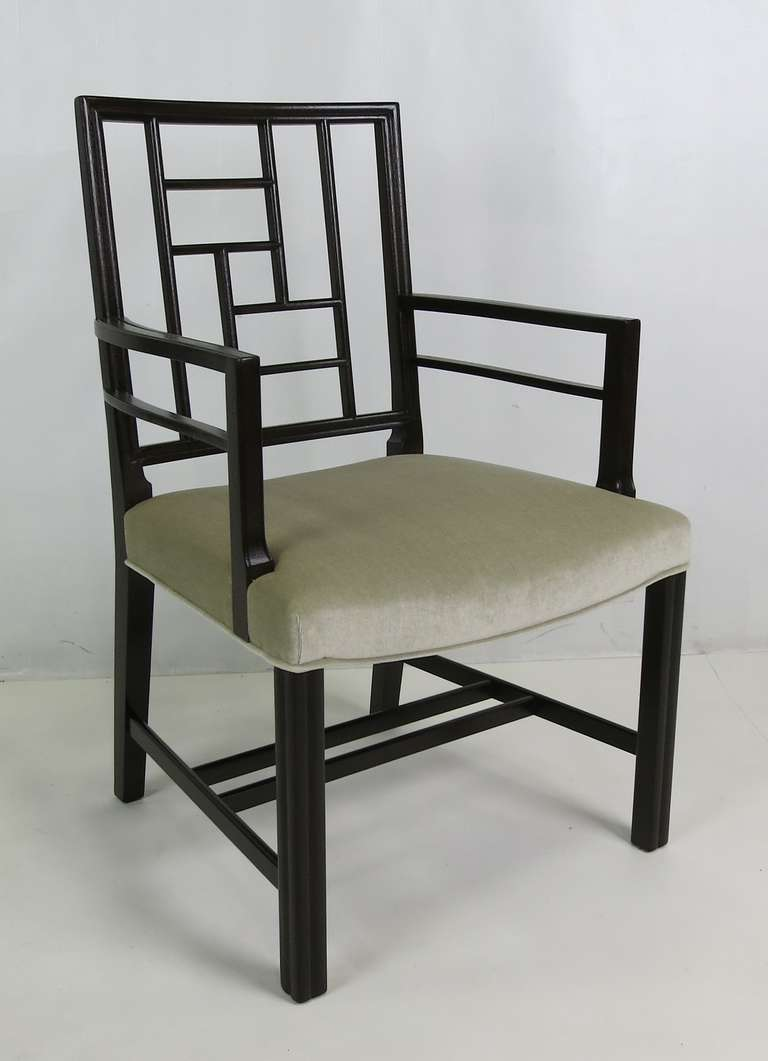 Modern Set of Eight Mahogany Dining Chairs by Johan Tapp For Sale