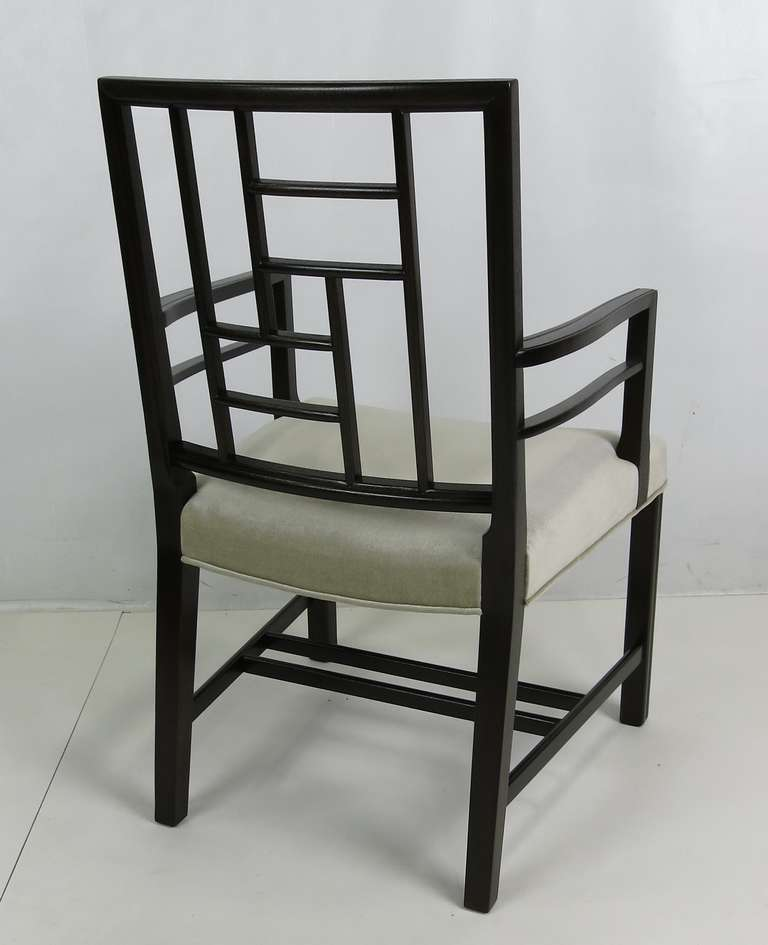 Set of Eight Mahogany Dining Chairs by Johan Tapp In Excellent Condition For Sale In San Leandro, CA