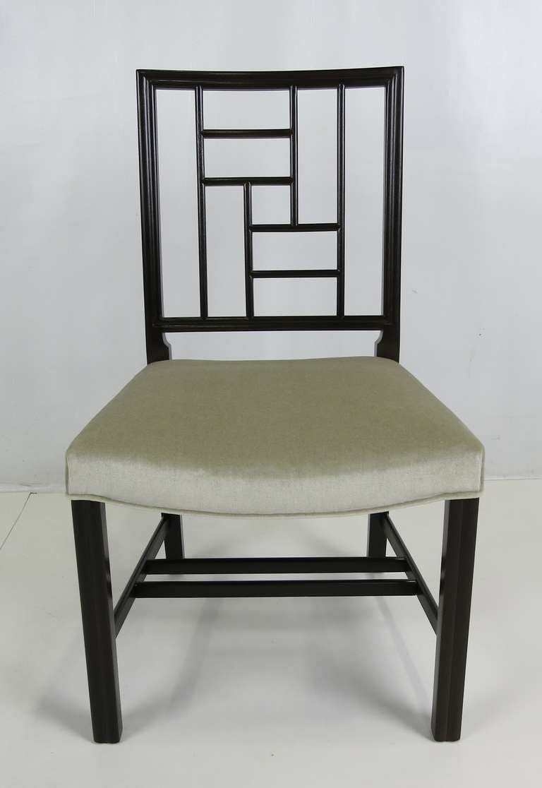 Mid-20th Century Set of Eight Mahogany Dining Chairs by Johan Tapp For Sale