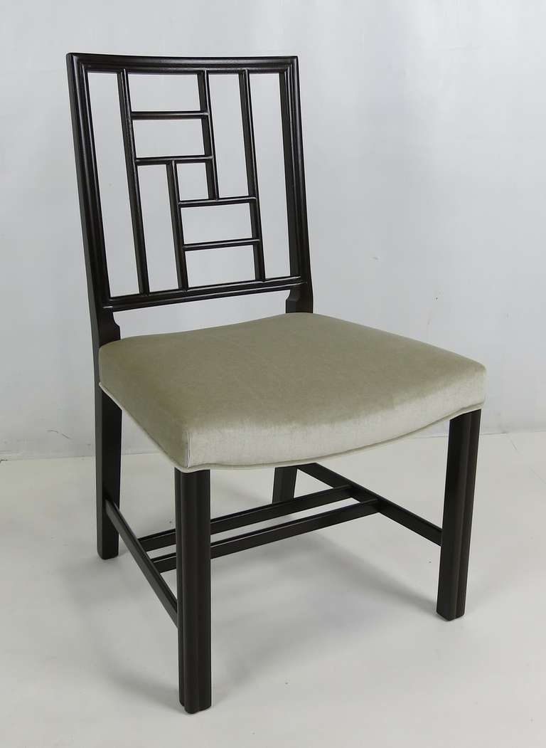 Set of Eight Mahogany Dining Chairs by Johan Tapp For Sale 1