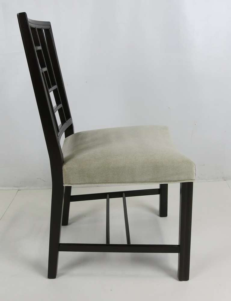 Set of Eight Mahogany Dining Chairs by Johan Tapp For Sale 3