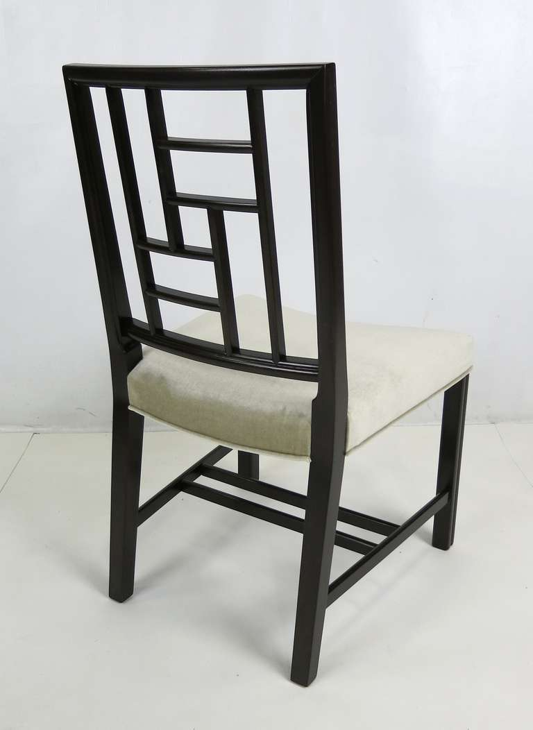 Set of Eight Mahogany Dining Chairs by Johan Tapp For Sale 4