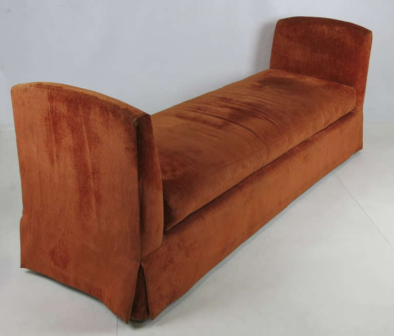 American Grand Scale Custom Backless Sofa/Daybed For Sale