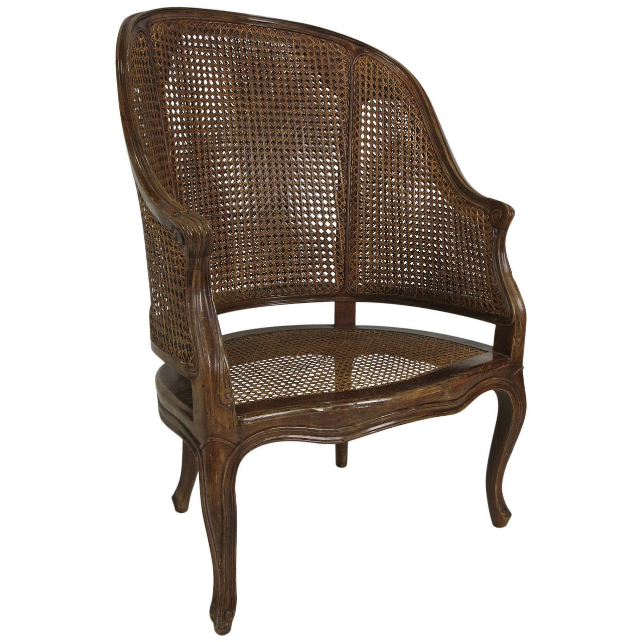 Large-Scale Italian Louis XV Style Barrel Chair