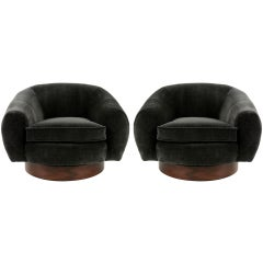 Pair of Polar Bear style Swivel Chairs