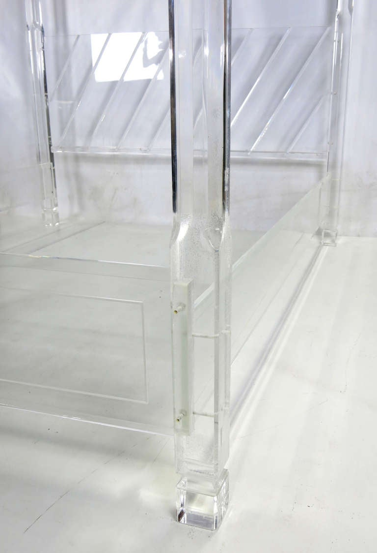 Spectacular Lucite Poster Bed With Mirror Canopy At 1stdibs