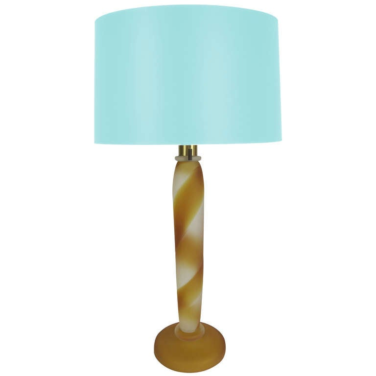 Murano Scavo Glass Lamp by John Hutton for Donghia