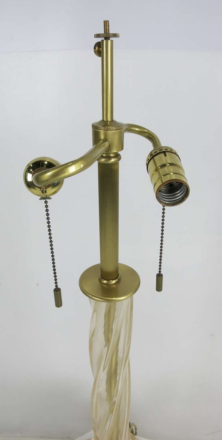 Italian Murano Cordonato D'Oro Table Lamp by John Hutton for Donghia For Sale